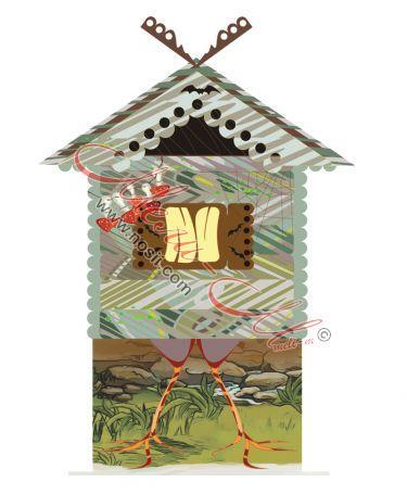 Макет на къща на Баба Яга