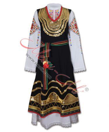 Шопска народна носия с богата бродерия