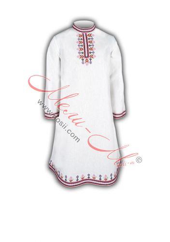 Дълга детска бродирана риза