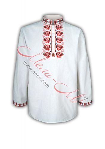 Мъжка риза с бродерия
