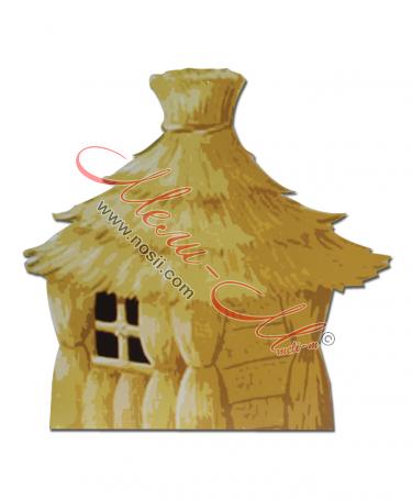 Макет на къща сламена