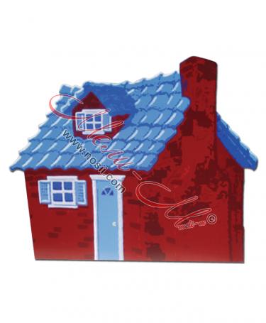 Макет на къща тухлена