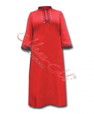 Традиционен Женски Сукман с красива цветна  бродерия и фолклорни шевици