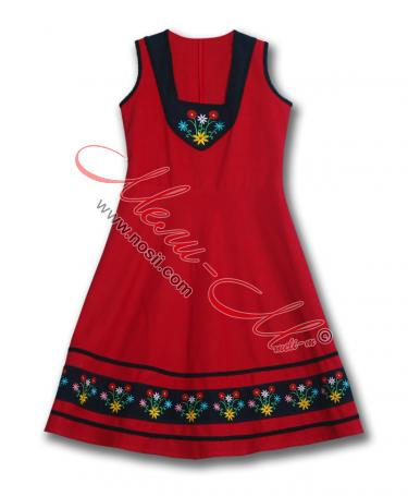 Традиционен Женски Сукман с красива цветна  бродерия