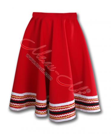 Традиционна  детска пола, обогатена със шевици