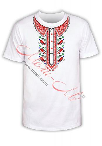 Мъжка Тениска с фолклорни мотиви