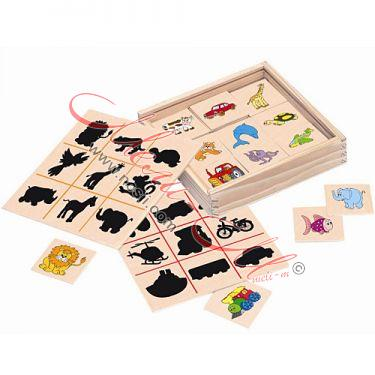 "Children's wooden play ""Find the shadow"""