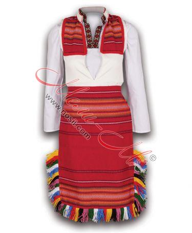 Traditional  Macedonian Embroidered Women's Folklore costume