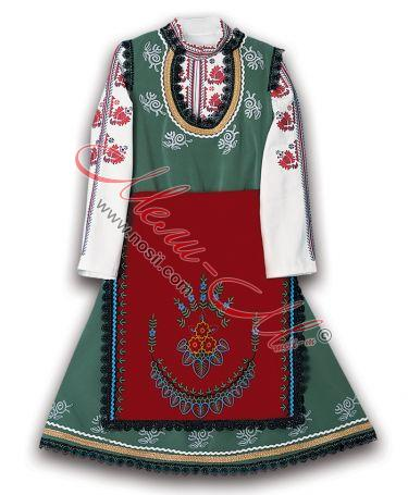 Women's folklore costume with embroidery from Ihtiman region