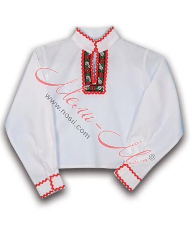 Boy's traditional long shirt with folklore decoration
