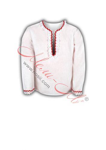Фолклорна риза с традиционни шевици и гайтани