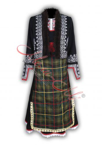 Traditional Embroidered Women's Folklore costume from region Rodopi