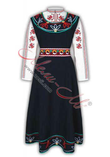 Traditional  Women's Folklore costume, richly decorated with braids and pendari