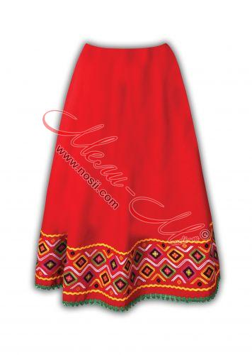 Bulgarian traditional embroidered skirt for woman