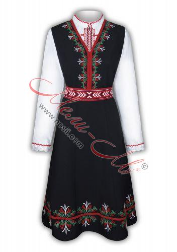Traditional Embroidered Women's Folklore costume