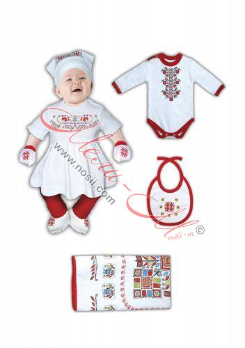 baby clothes with a national embroidery