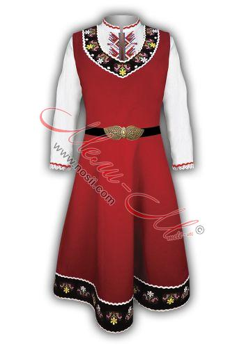 Women's folklore costume with embroidery