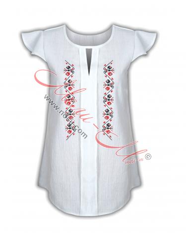 Дамска риза с бродирана шевица