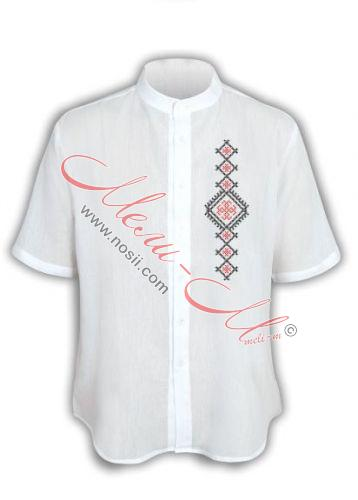 Мъжка риза с бродирана шевица