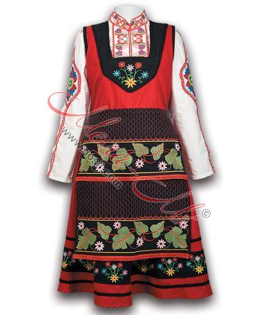 Bulgarian women's costume from the region of Thrace