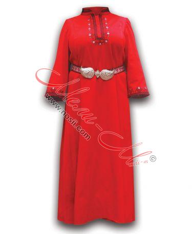 Women's Folklore embroidered costume with Metal Belt buckle-11k