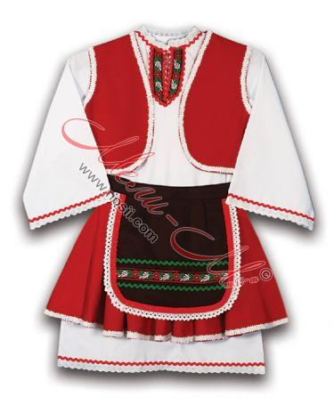 Traditional kids folklore costume