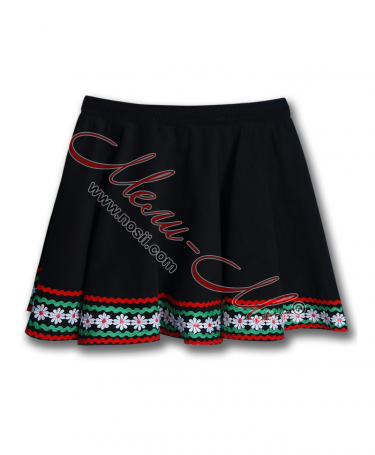 Bulgarian traditional  skirt for girl with nice folklore decoration